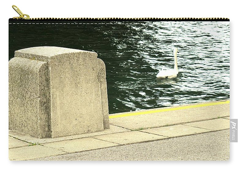 Swan Carry-all Pouch featuring the photograph Danube River Swan by Ian MacDonald
