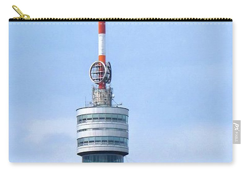 Danube Carry-all Pouch featuring the photograph Danube Tower Vienna by Ian MacDonald