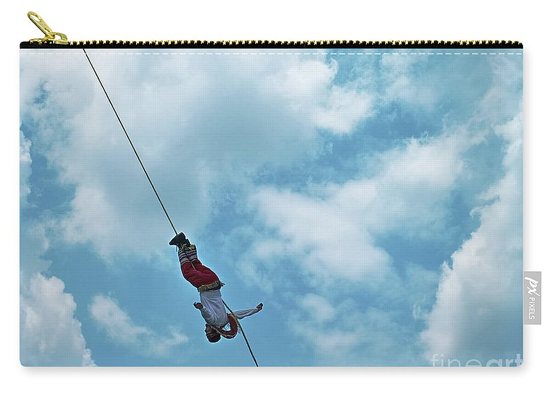 Mexico Carry-all Pouch featuring the photograph Danza De Los Voladores Dance Of The Flyers by Juuso Viitanen