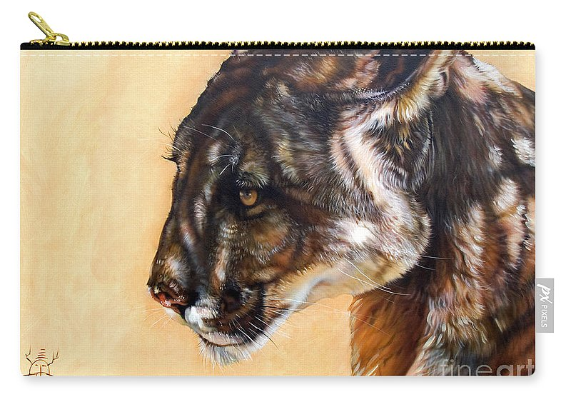 Catamount Carry-all Pouch featuring the painting Dappled by J W Baker