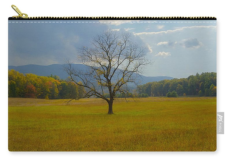 Landscape Carry-all Pouch featuring the photograph Dare To Stand Alone by Michael Peychich