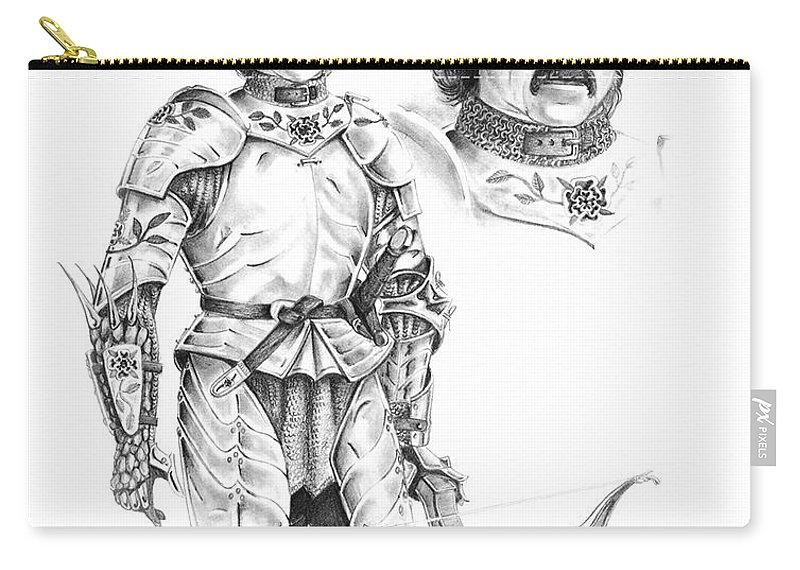 Knight Carry-all Pouch featuring the drawing Daria by Melissa A Benson