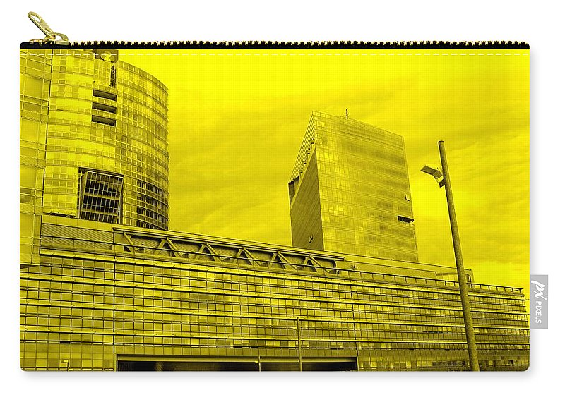Vienna Carry-all Pouch featuring the photograph Daring Architecture by Ian MacDonald