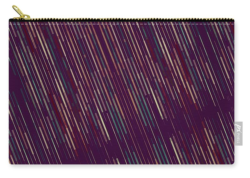 Brandi Fitzgerald Carry-all Pouch featuring the digital art Dark Abstract Bars In Space by Brandi Fitzgerald