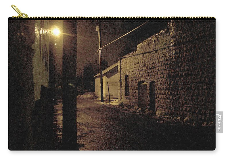 Alley Carry-all Pouch featuring the photograph Dark Alley by Tim Nyberg