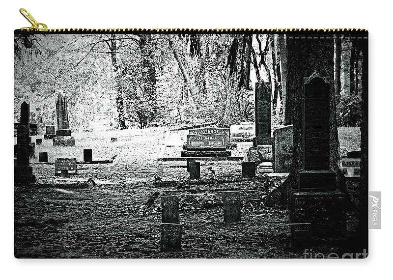 Cemetery Carry-all Pouch featuring the photograph Dark As The Grave by Scott Ward