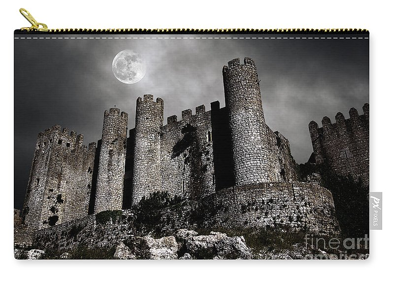Ancient Carry-all Pouch featuring the photograph Dark Castle by Carlos Caetano