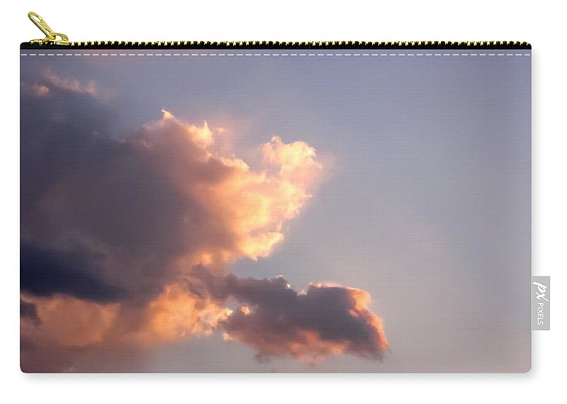 Dark Clouds Fringed With Light Carry-all Pouch featuring the photograph Dark Clouds Fringed With Light by Cynthia Woods