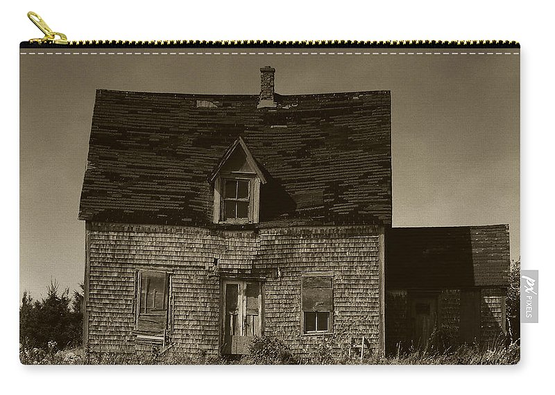 Old House Carry-all Pouch featuring the photograph Dark Day On Lonely Street by RC DeWinter