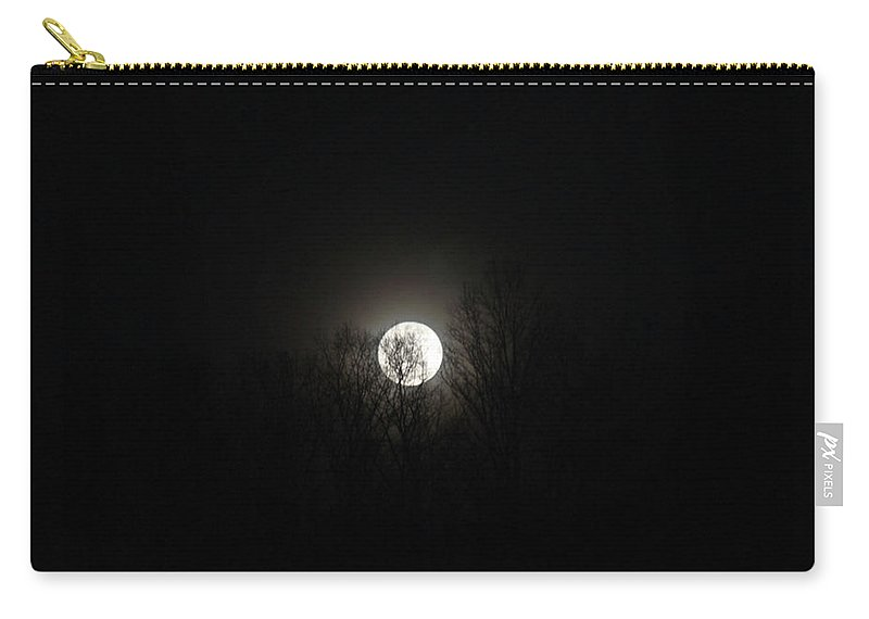 Dark Carry-all Pouch featuring the photograph Dark Moon by Douglas Barnett
