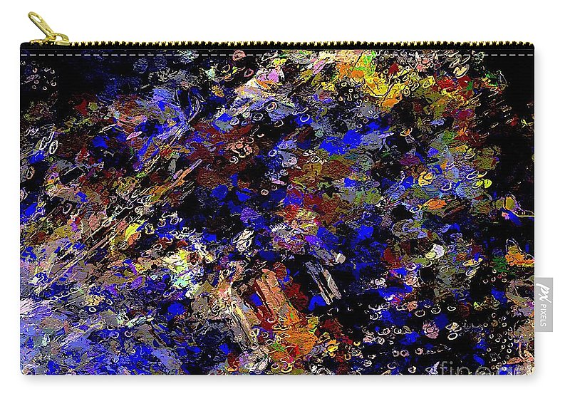 Abstract Carry-all Pouch featuring the digital art Dark Night by Cooky Goldblatt