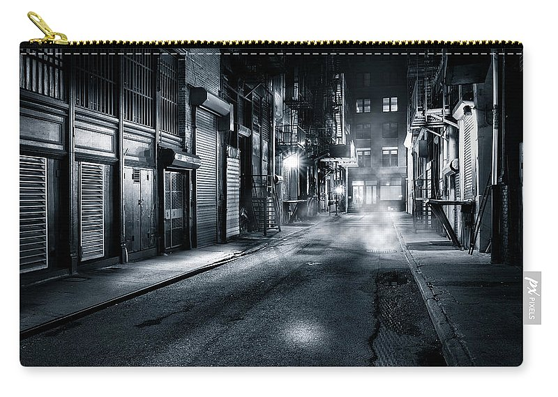 Chinatown Carry-all Pouch featuring the photograph Dark Nyc by Mihai Andritoiu
