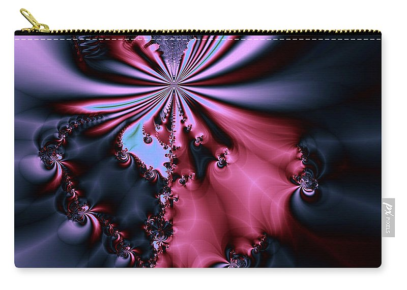Digital Art Carry-all Pouch featuring the digital art Dark Orchid by Amanda Moore