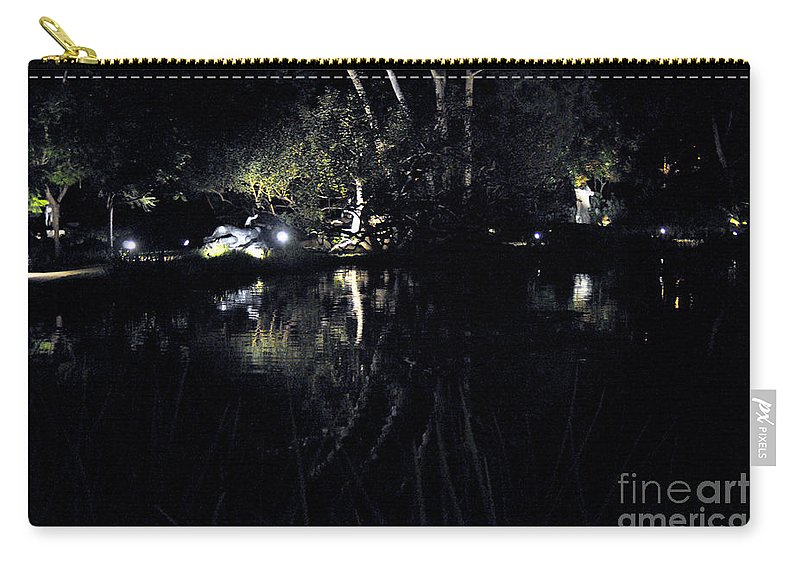 Clay Carry-all Pouch featuring the photograph Dark Reflections by Clayton Bruster