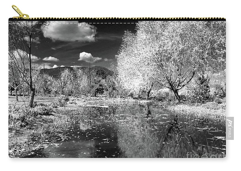 Garden Carry-all Pouch featuring the photograph Dark Reflections by Tara Turner