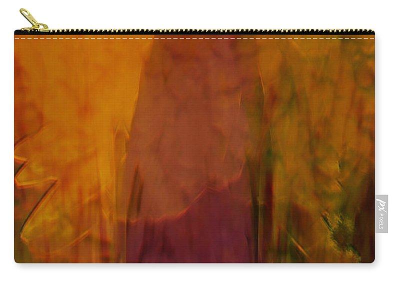 Abstract Art Carry-all Pouch featuring the digital art Dark Shadow by Linda Sannuti