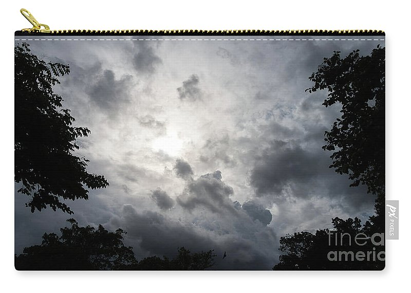 Sky Carry-all Pouch featuring the photograph Dark Sky Clouds by Que Siam