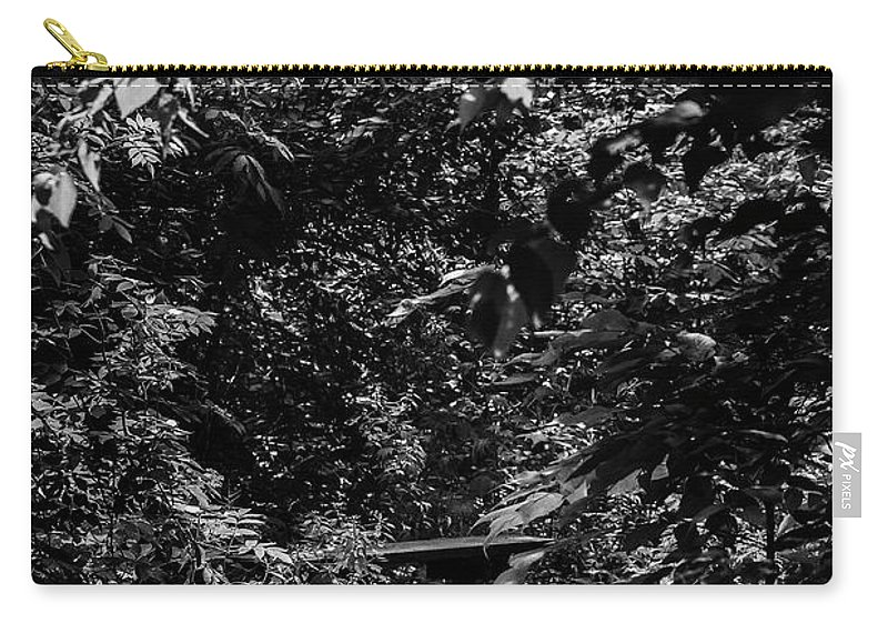 Heron Haven Carry-all Pouch featuring the photograph Dark Summer Woods by Edward Peterson