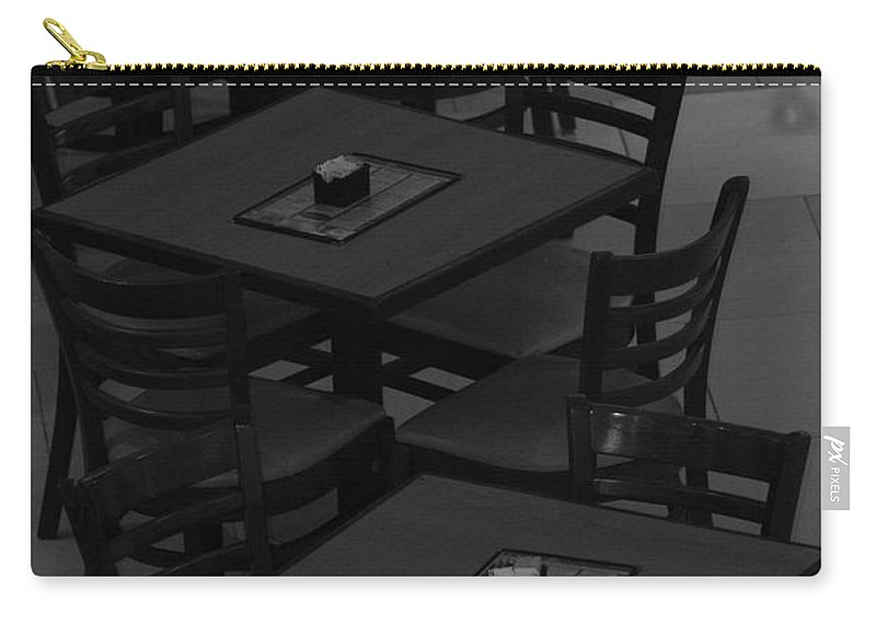 Tables Carry-all Pouch featuring the photograph Dark Tables by Rob Hans