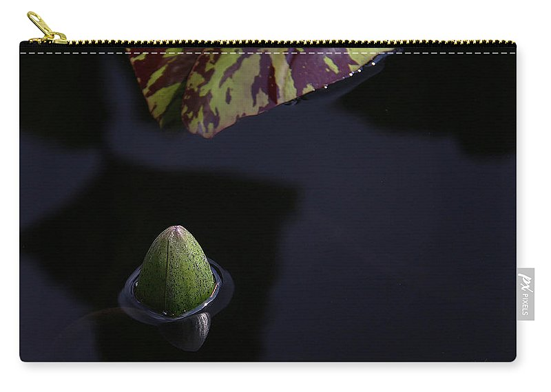 Water Lily Carry-all Pouch featuring the photograph Dark Water by Yvonne Wright
