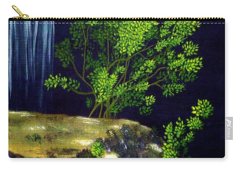 Fine Art Carry-all Pouch featuring the painting Dark Waters by Patricia Griffin Brett