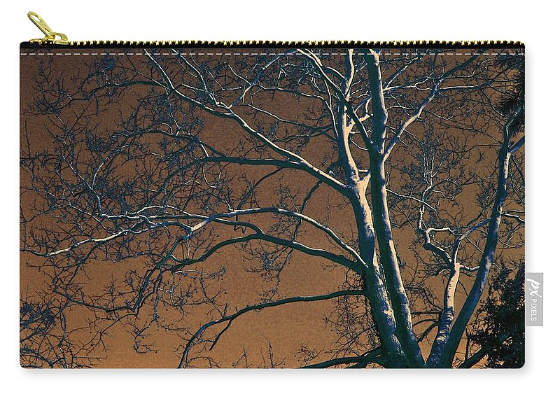 Tree Carry-all Pouch featuring the photograph Dark Woods II by Betty Northcutt