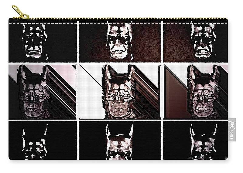 The Dark Knight Carry-all Pouch featuring the painting Darkbat by Helge
