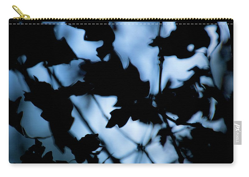 Blue Carry-all Pouch featuring the photograph Darkness by Brady Lane