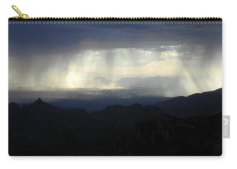 Darkness Carry-all Pouch featuring the photograph Darkness Over The City by Douglas Barnett