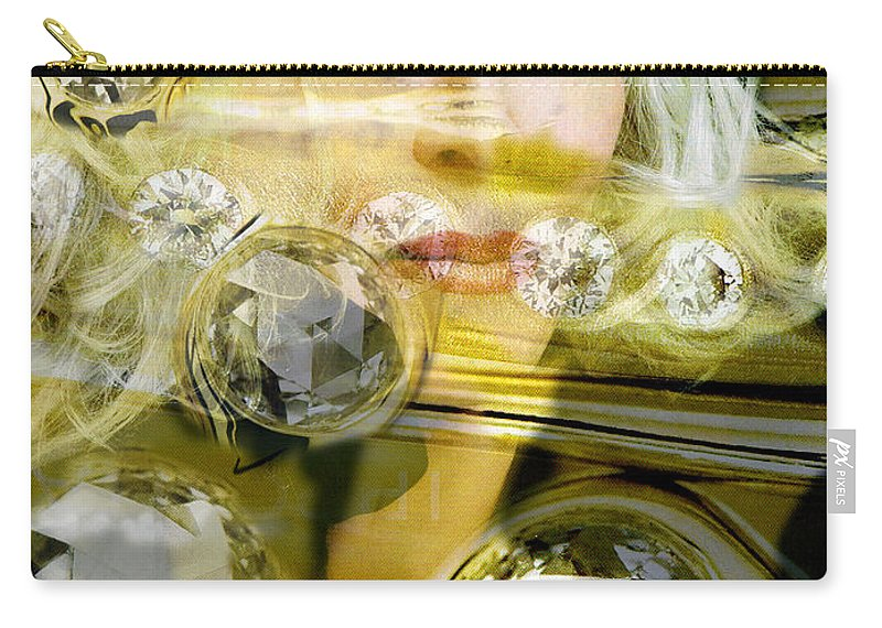 Women Carry-all Pouch featuring the digital art Darling Diamonds by Seth Weaver