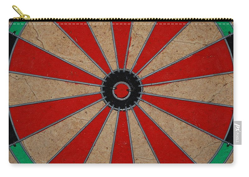 Art Carry-all Pouch featuring the photograph Dart Board by Rob Hans