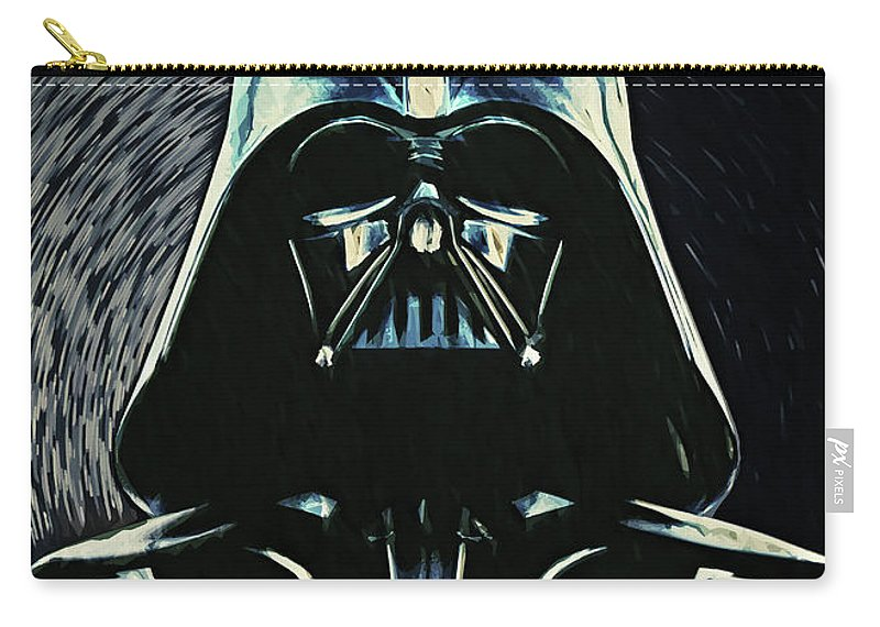 Darth Vader Carry-all Pouch featuring the digital art Darth Vader by Zapista