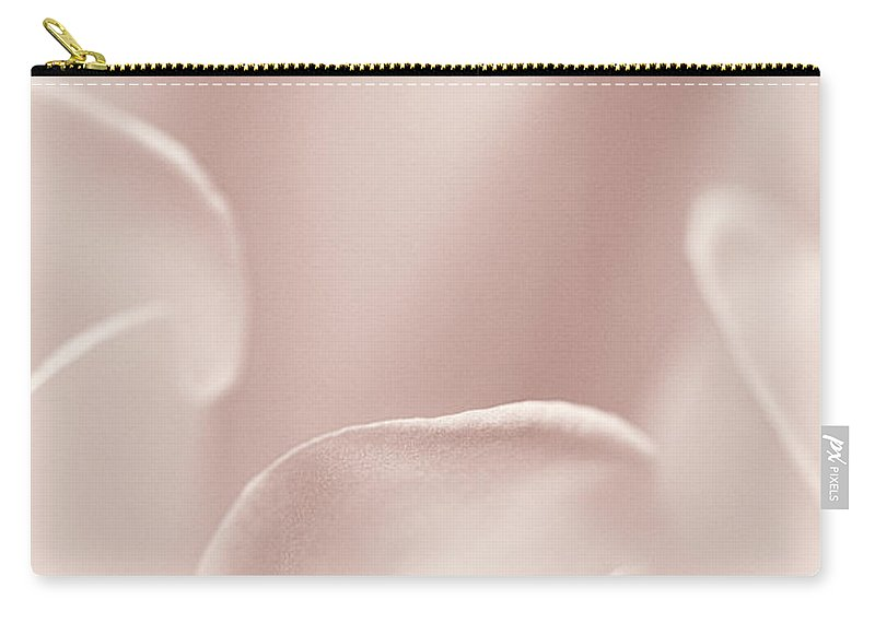 Datura Carry-all Pouch featuring the photograph Datura Heather Pink Abstract by Mother Nature