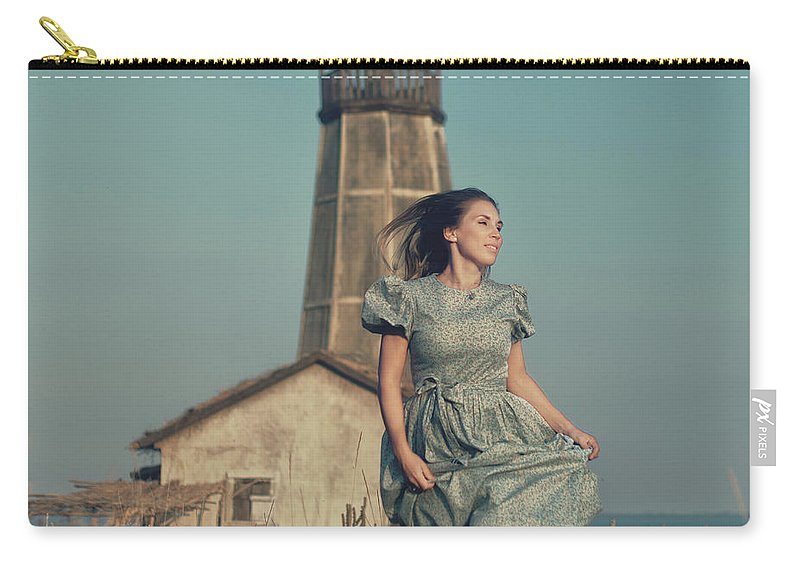 Fine-art Carry-all Pouch featuring the photograph Daughter Of The Lighthouse Keeper by Denis Kovalenko