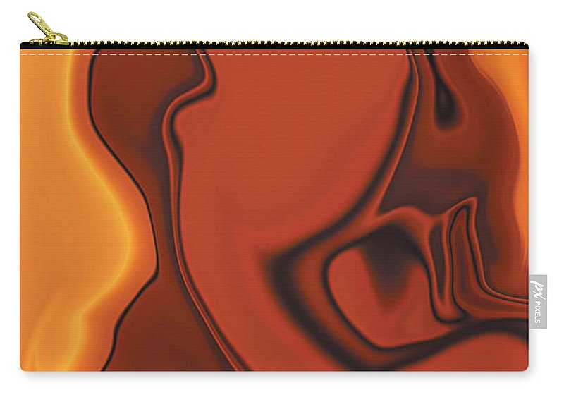 Abuse Adverse Art Beauty Brown Copper Digital Girl Golden Human Orange Red Right Venus Violence Wall Carry-all Pouch featuring the digital art Daughter Of Venus by Rabi Khan