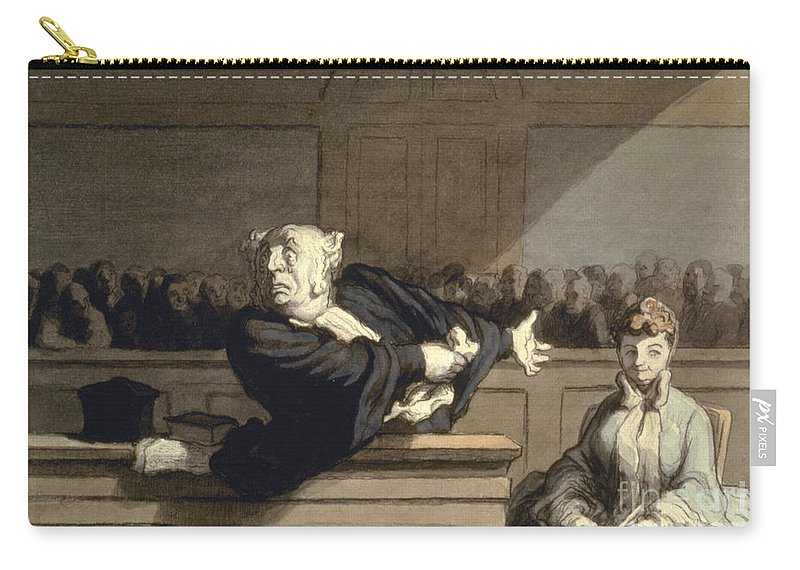 1860 Carry-all Pouch featuring the photograph Daumier: Advocate, 1860 by Granger