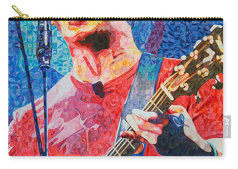 Dave Matthews Carry-all Pouch featuring the drawing Dave Matthews Squared by Joshua Morton