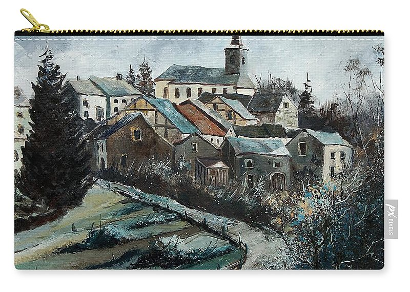 Village Carry-all Pouch featuring the painting Daverdisse 78 by Pol Ledent