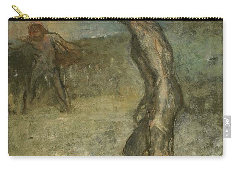 Edgar Degas Carry-all Pouch featuring the painting David And Goliath by Edgar Degas
