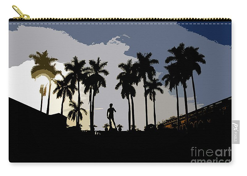 David Carry-all Pouch featuring the painting David by David Lee Thompson