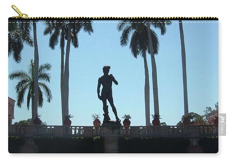 Ringling Museum Carry-all Pouch featuring the photograph David In Sarasota by Jost Houk