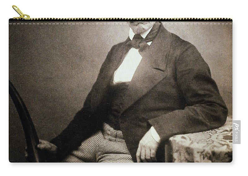 1864 Carry-all Pouch featuring the painting David Livingstone (1813-1873) by Granger