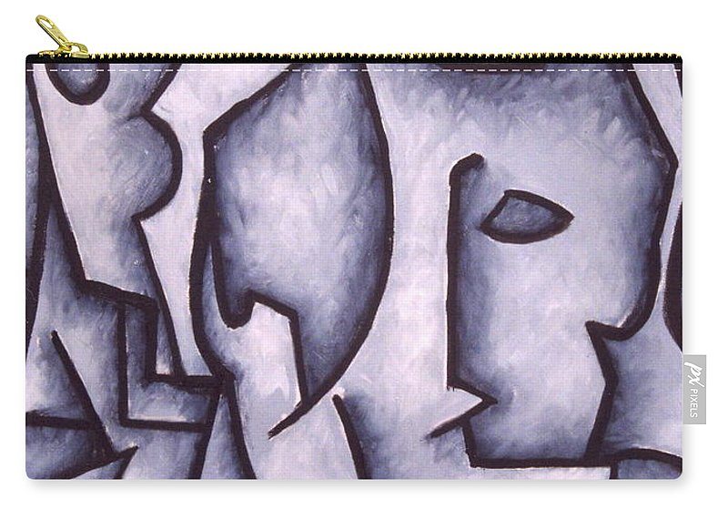 Abstract Carry-all Pouch featuring the painting David by Thomas Valentine