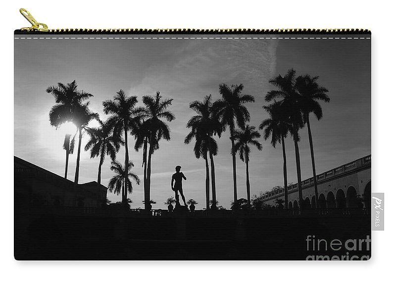 David Carry-all Pouch featuring the photograph David With Palms by David Lee Thompson