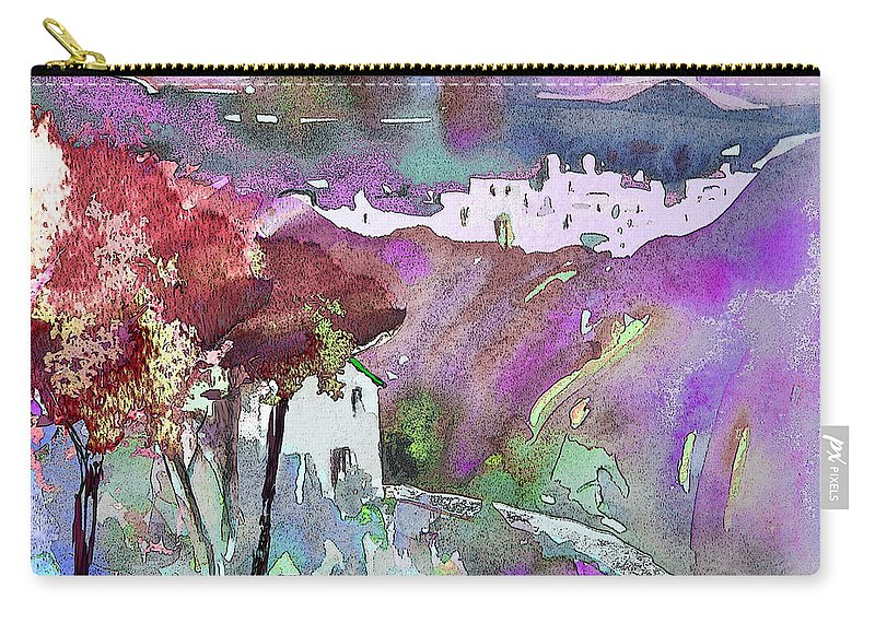 Watercolour Carry-all Pouch featuring the painting Dawn 01 by Miki De Goodaboom
