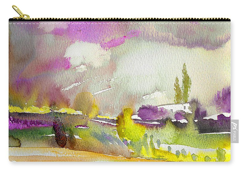Watercolour Carry-all Pouch featuring the painting Dawn 03 by Miki De Goodaboom