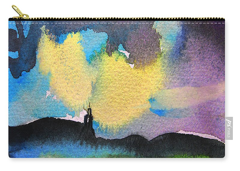 Watercolour Painting Carry-all Pouch featuring the painting Dawn 05 by Miki De Goodaboom