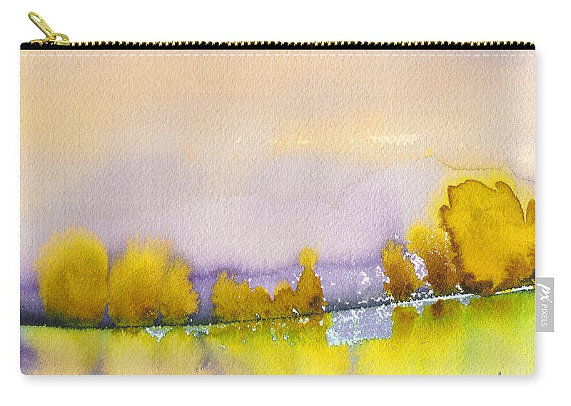 Landscapes Carry-all Pouch featuring the painting Dawn 11 by Miki De Goodaboom