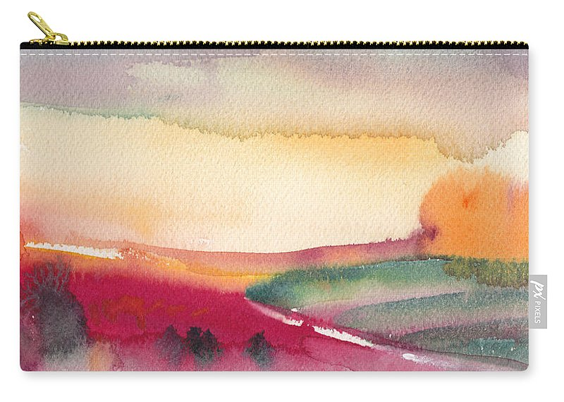 Watercolour Carry-all Pouch featuring the painting Dawn 12 by Miki De Goodaboom