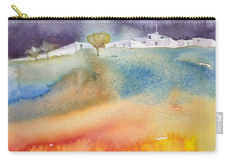 Landscapes Carry-all Pouch featuring the painting Dawn 15 by Miki De Goodaboom